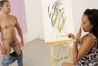 Sexo com a Aninha depois da pintura