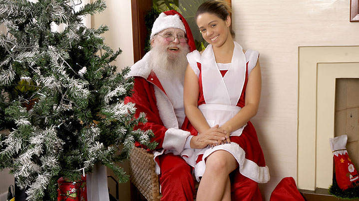 A MILF solitária do Papai Noel