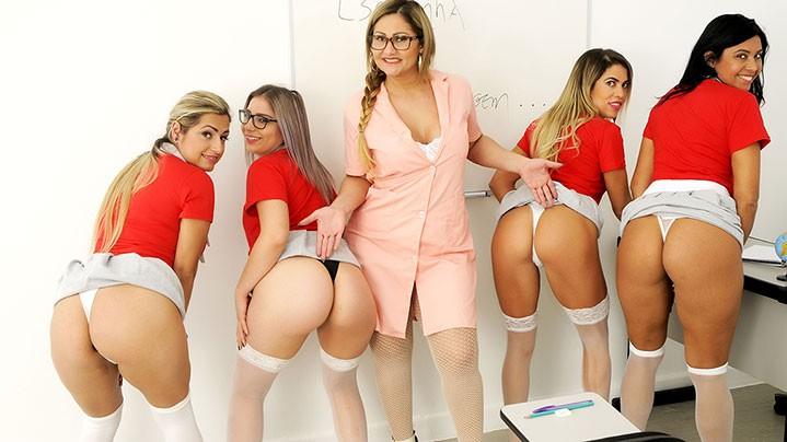 Suruba com alunas na escolinha da sacanagem