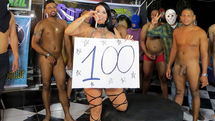 100 homens fodendo a gostosa da Soraya Carioca