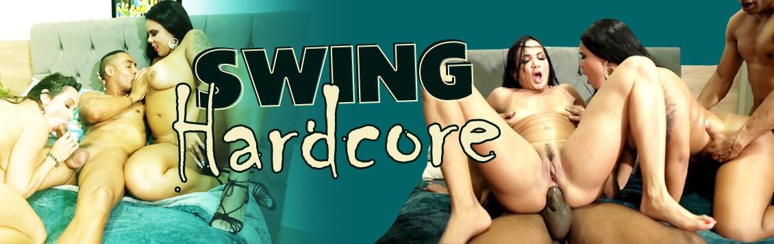 Swing hardcore com as gostosas Pamela e Bianca
